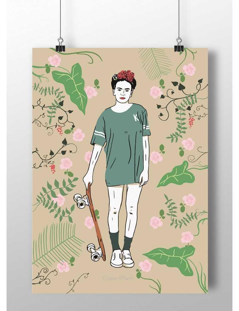 Affiche Frida skate