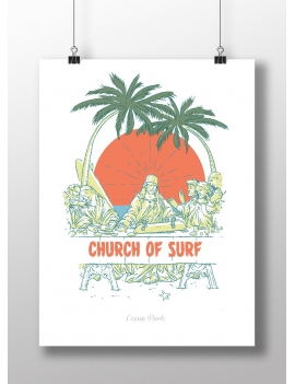 Affiche Church of surf