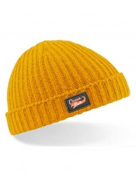 Bonnet Court jaune moutarde