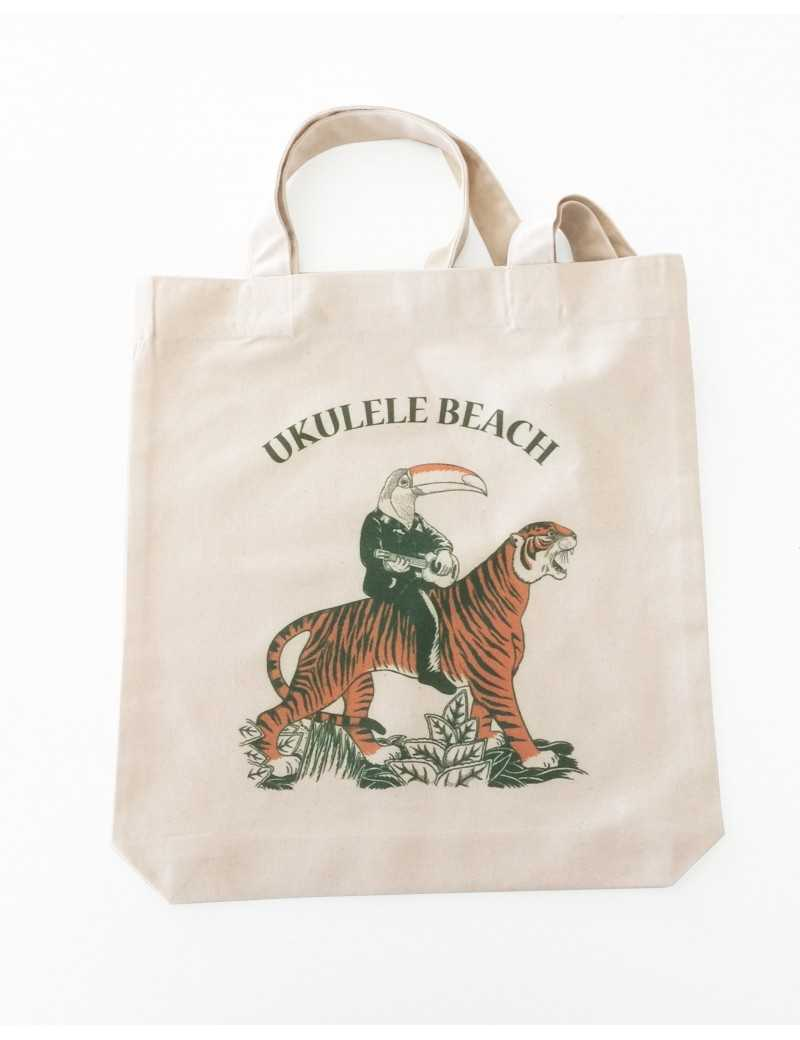 Tote bag Ukulele Beach