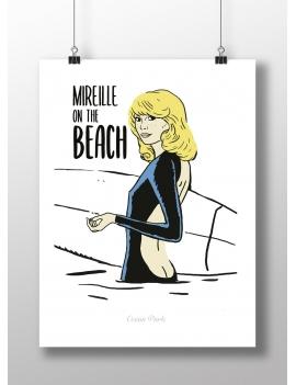 Affiche Mireille à la plage